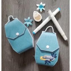 Mini valisette bleu